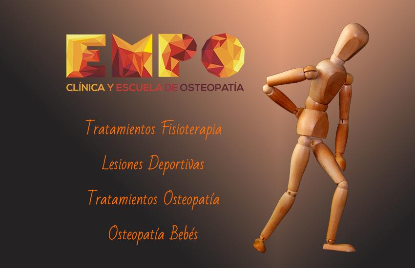 Maniquí con dolor y tratamientos fisioterapia EMPO Almería